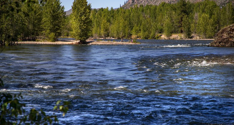 The Twisp and the Methow rivers meet at Twisp Park near downtown Twisp. The town is a stone's throw from Winthrop and Sun Mountain in North Central Washington. (Mike Siegel / The Seattle Times)