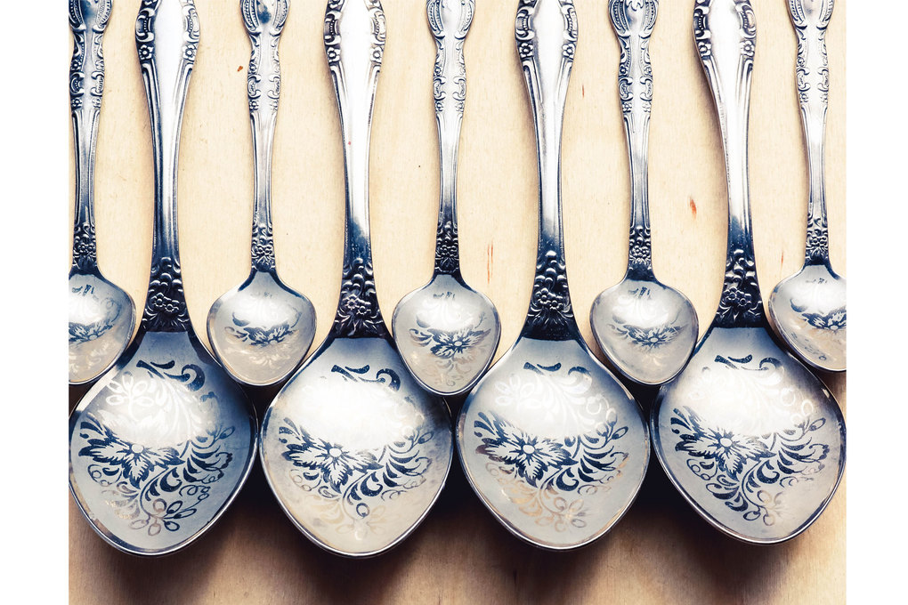 A sterling silver flatware set, depending on pattern, condition and other factors, could bring in $1,000–$1,800, but silver plated flatware is not nearly as valuable. (Getty Image)