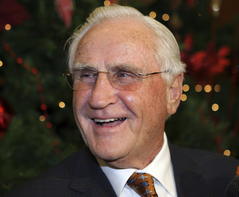 FILE – In this Jan. 2, 2010, file photo, former Miami Dolphins head coach Don Shula smiles during his 80th birthday party at Land Shark Stadium in Miami. Shula, who won the most games of any NFL coach and led the Miami Dolphins to the only perfect season in league history, died Monday, May 4, 2020, at his South Florida home, the team said. He was 90.  (AP Photo/Jeffrey M. Boan, File)