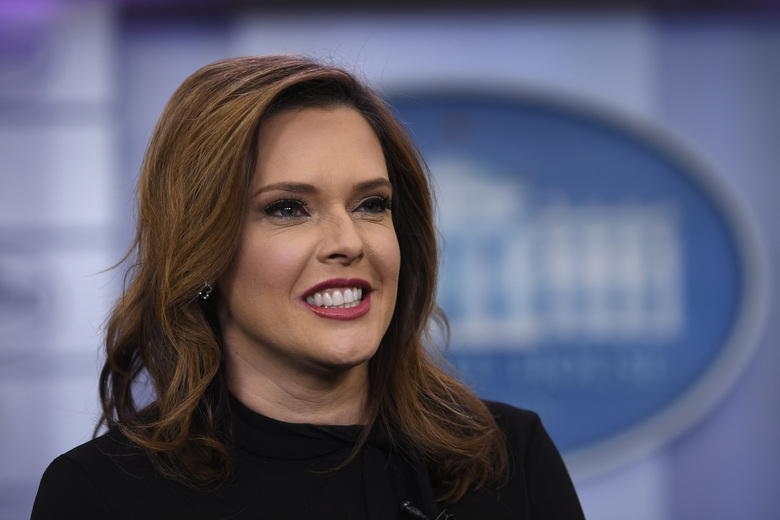 "Mercedes Schlapp speaks during a January television interview at the White House in Washington. Republican political operatives are recruiting ""pro-Trump"" doctors to go on television to prescribe reviving the U.S. economy as quickly as possible, without waiting to meet the COVID-19 safety benchmarks proposed by public health experts. The plan was discussed in a May 11 conference call with a senior staffer for the Trump re-election campaign. The idea quickly gained support from Schlapp, a Trump campaign senior adviser. ""Those are the types of guys that we should want to get out on TV and radio to help push out the message,"" Schlapp said on the call.   (AP Photo/Susan Walsh, file)"