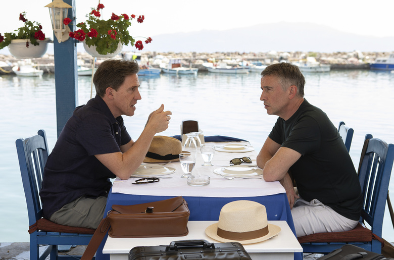 "Rob Brydon, left, and Steve Coogan return in ""The Trip to Greece."" (Andy Hall / IFC Films)"