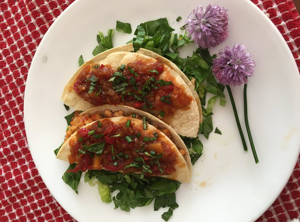 Ellen Richter put together taquitos inspired by Thai flavors thanks to the sweet chili sauce she used on her meat. (Ellen Richter)