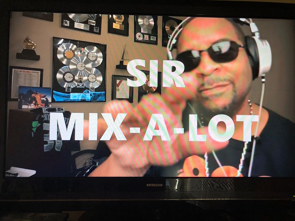 Sir Mix-A-Lot featured prominently on the All in WA concert. (Stef Loh/The Seattle Times)