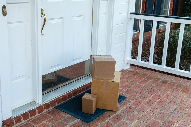 Porch deliveries have become more common as people stay closer to home. Motion-sensing lights and doorbell cameras can help to discourage theft, as can a watchful neighbor. (Getty Images)