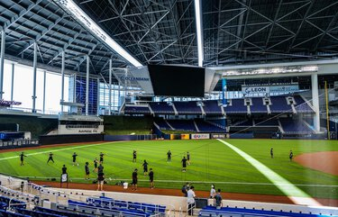 A general view of Marlins Park during Miami Marlins Summer Workouts at Marlins Park on July 03, 2020 in Miami, Florida. (Mark Brown/Getty Images/TNS) 1726408 1726408