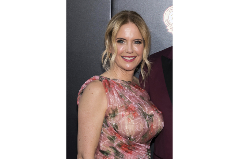 "FILE – In this June 14, 2018, file photo, Kelly Preston attends the premiere of ""Gotti"" at the SVA Theatre in New York. Preston, whose credits included the films ""Twins"" and ""Jerry Maguire,"" died Sunday, July 12, 2020, her husband John Travolta said. She was 57.(Photo by Charles Sykes/Invision/AP, File)"