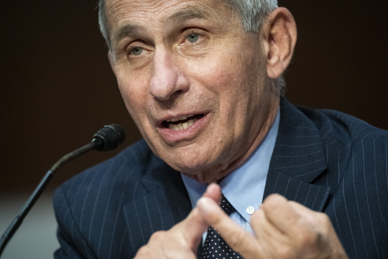 Director of the National Institute of Allergy and Infectious Diseases Dr. Anthony Fauci speaks during a Senate Health, Education, Labor and Pensions Committee hearing on Capitol Hill in Washington, Tuesday, June 30, 2020. (Al Drago/Pool via AP)