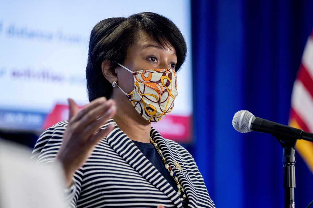 District of Columbia Mayor Muriel Bowser says she'll issue an executive order making face masks mandatory outside the home. (AP Photo/Andrew Harnik)