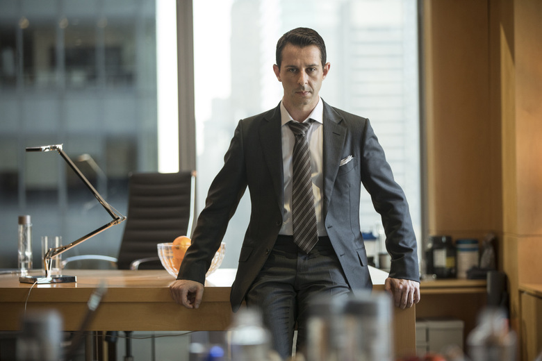 """This image released by HBO shows Jeremy Strong in a scene from """"Succession."""" Strong was nominated for an Emmy Award for outstanding leading actor in a drama series on Tuesday, July 28, 2020. (HBO via AP)"""