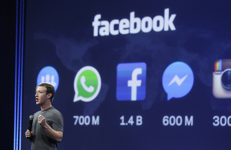 """In new polling, 60% of registered voters said they believe that Facebook, whose CEO, Mark Zuckererg, is pictured, hasn't shown """"a serious commitment to combating racism."""" (AP Photo / Eric Risberg, File)"""