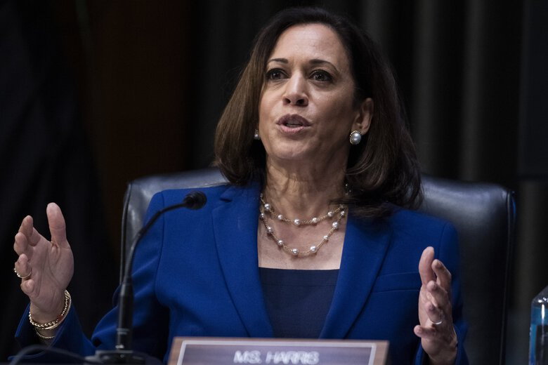 Washington Democrats were excited about the pick of California Sen. Kamala Harris as vice presidential nominee, praising it and calling it historic. (Tom Williams / Associated Press)