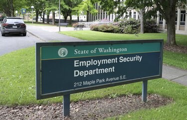 Washington state's Employment Security Department reports  (AP Photo/Ted S. Warren)
