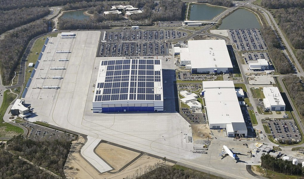 An aerial view of Boeing's 787 aircraft assembly site in North Charleston, S.C. (Boeing)