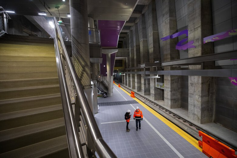 Sound Transit's  Roosevelt Station in Seattle. (Ellen M. Banner / The Seattle Times)