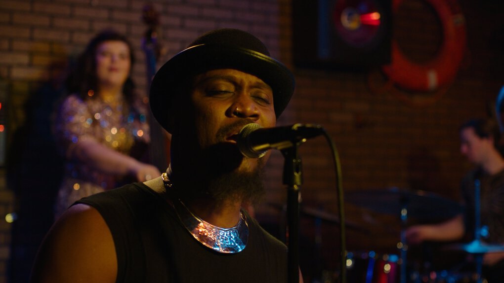 "The singer okanomodé performs in the movie ""Thin Skin."" (Sean Kirby)"