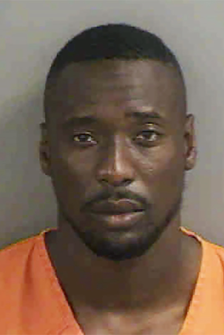 In this photo made available by the Collier County Sheriff's Office, Cincinnati Bengals cornerback Mackensie Alexander is shown Wednesday, Aug. 26, 2020. Alexander was jailed Wednesday, charged with misdemeanor battery after deputies say he beat up a man shortly after Alexander returned to Florida to help search for his missing father. (Collier County Sheriff's Office via AP)