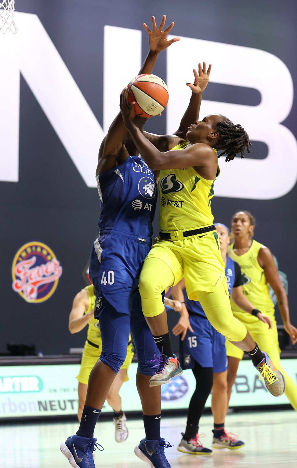 Epiphanny Prince goes for a shot against the Minnesota Lynx on Sunday. (Stephen Gosling / NBAE via Getty Images)