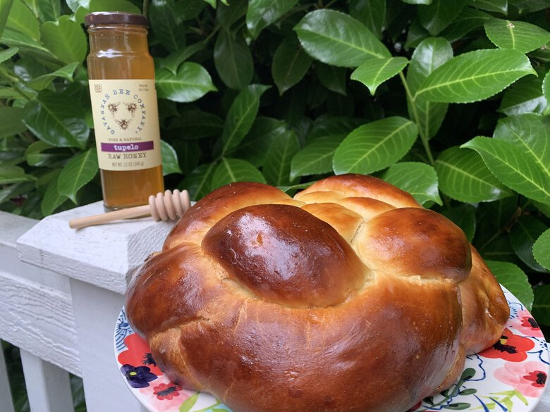 For Rosh Hashanah, challah is baked in a round shape to symbolize the cyclical nature of life and/or the crown of God. (Rebecca Davis-Suskind)