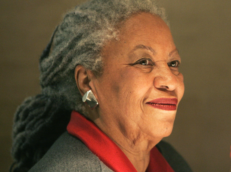 FILE – In this Nov. 8, 2006 file photo, American Nobel laureate Toni Morisson smiles during a press conference at the Louvre Museum in Paris. Morisson is included in a list of authors who wrote books that were among the 100 most subjected to censorship efforts over the past decade, as compiled by the American Library Association. (AP Photo/Michel Euler, File)