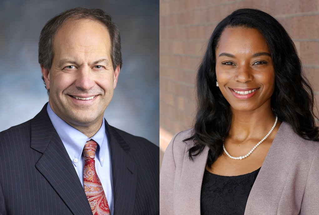 State Sen. Steve O'Ban, R-University Place, left, trailed Democrat T'wina Nobles, right, in the 28th Legislative District. (Courtesy of the campaigns)