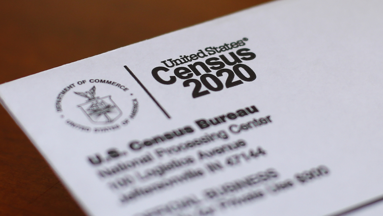 FILE – This April 5, 2020, file photo shows an envelope containing a 2020 census letter mailed to a U.S. resident in Detroit. The Supreme Court's decision to allow the Trump administration to end the 2020 census was another case of whiplash for the census, which has faced stops from the pandemic, natural disasters and court rulings. (AP Photo/Paul Sancya, File)
