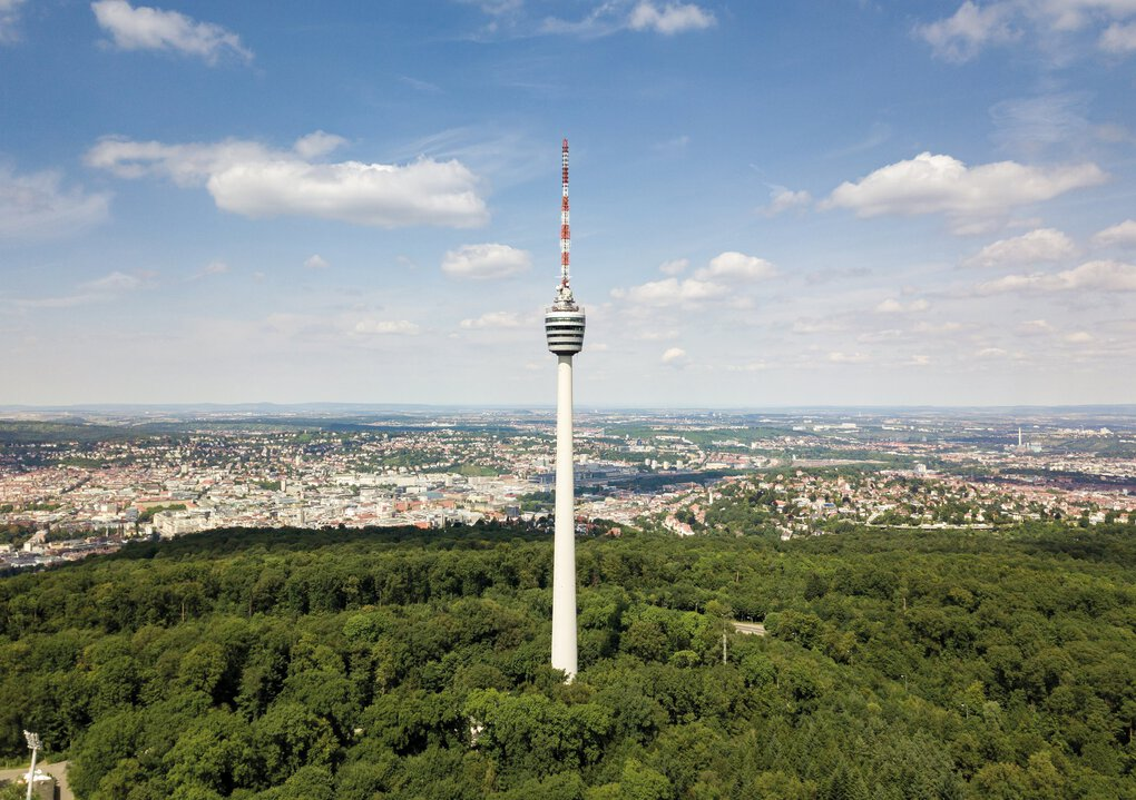 The Stuttgart TV Tower, with a restaurant on top, was the inspiration for the Space Needle after  Seattle civic leader Eddie Carlson visited Stuttgart, Germany. (Manuel Schönfeld / The Stuttgart TV Tower ©schoenfeld-marketing.de)