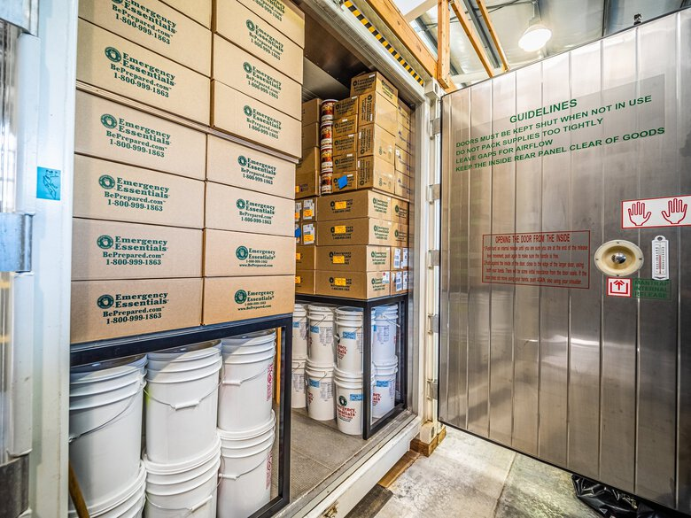 The 9,000-square-foot shop contains survival essentials and toilet paper piled to the ceiling.   (Eddie Hayes / Courtesy Forbes Hansen)