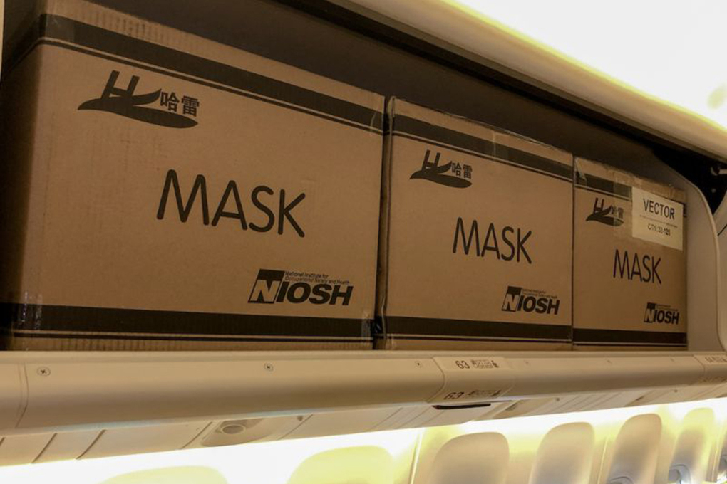 EVA flights from Taipei brought masks and other personal protective equipment to the U.S.
