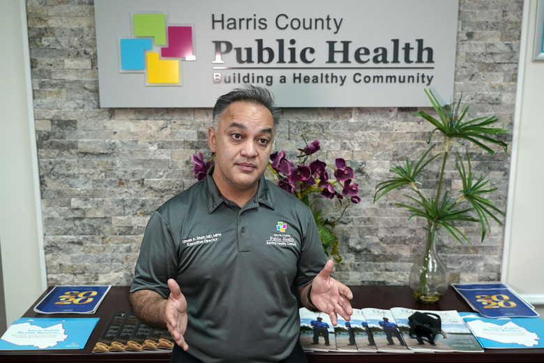 Dr. Umair Shah, health director for Harris County, Texas, which includes metropolitan Houston, is the new Washington state Secretary of Health.  (AP Photo / David J. Phillip, File)