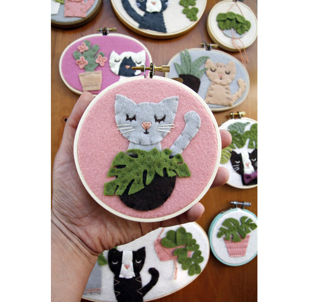 Catshy Crafts Custom Cat Portrait Embroidery
