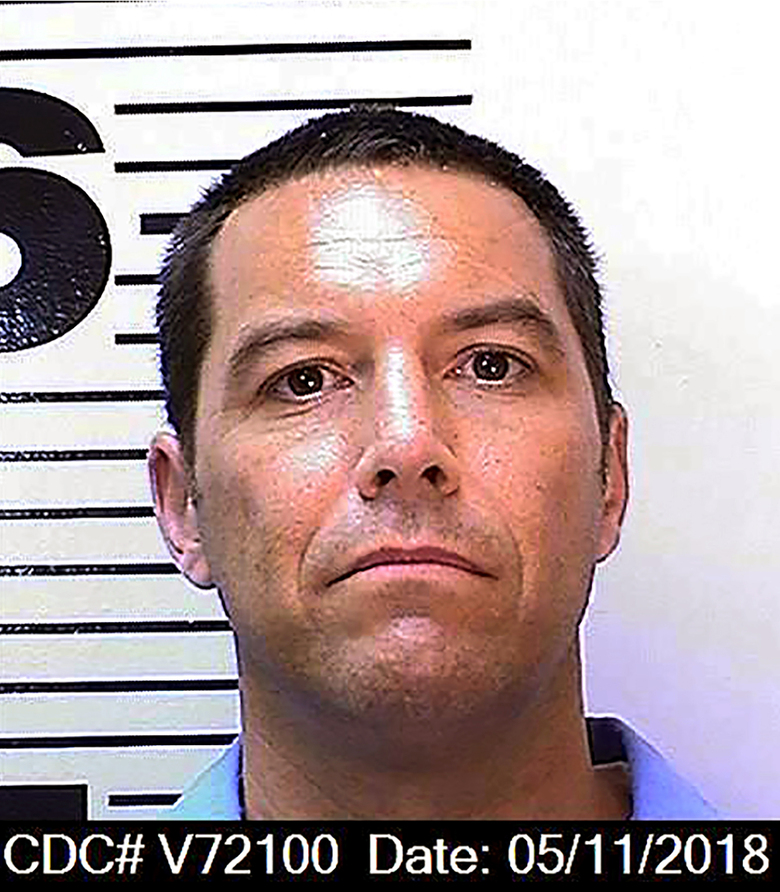 FILE – This May 11, 2018, file photo, from the California Department of Corrections and Rehabilitation, shows Scott Peterson. A California prosecutor says someone has filed an unemployment claim in the name of convicted murderer Peterson. Sacramento County District Attorney Anne Marie Schubert said it is one of at least 35,000 unemployment claims made on behalf of prison inmates between March and August 2020. (California Department of Corrections and Rehabilitation via AP, File)