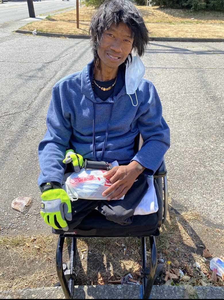 Both of Than Orn's legs were amputated in March because of repeated infections, his attorneys said. His lawsuit said the injuries he suffered when Tacoma police shot him left him unable to work and caused distress and other problems. (Photo courtesy of Pfau Cochran Vertetis Amala)