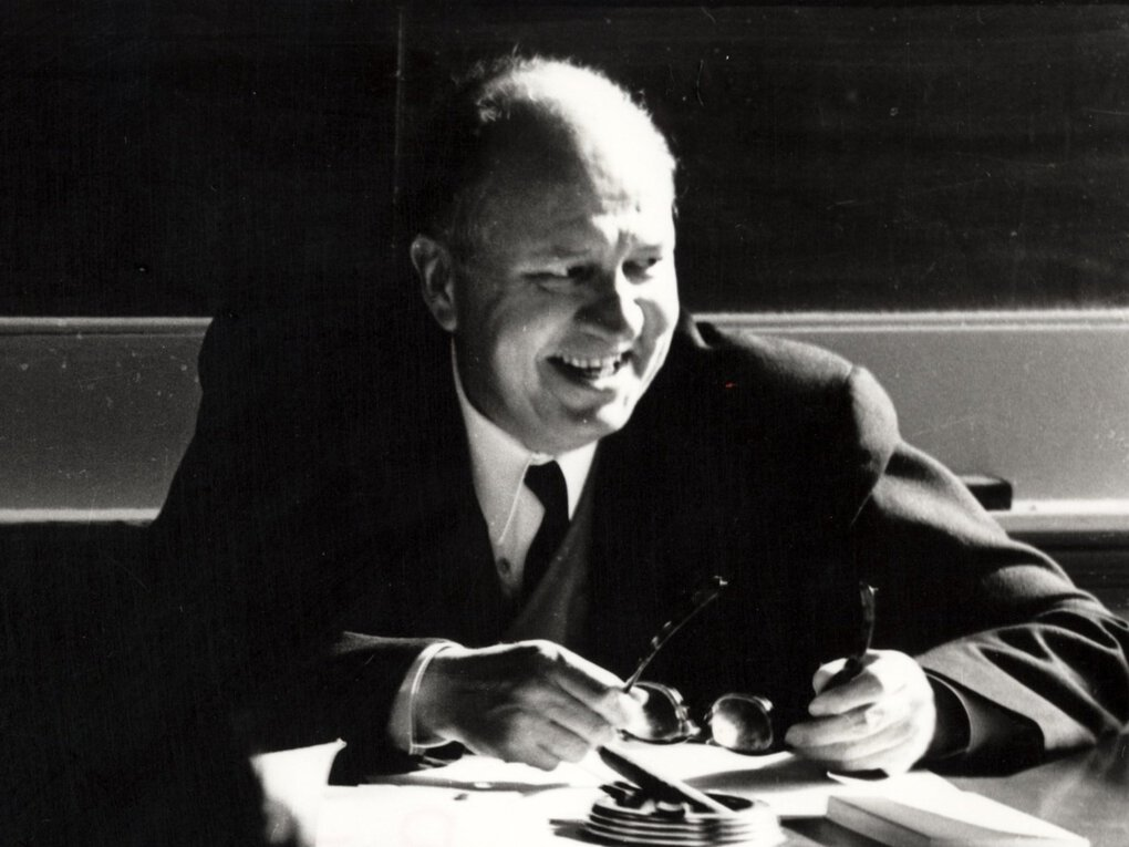 Theodore Roethke taught poetry writing at the University of Washington from 1947 until his death in 1963. (Walter Walkinshaw)