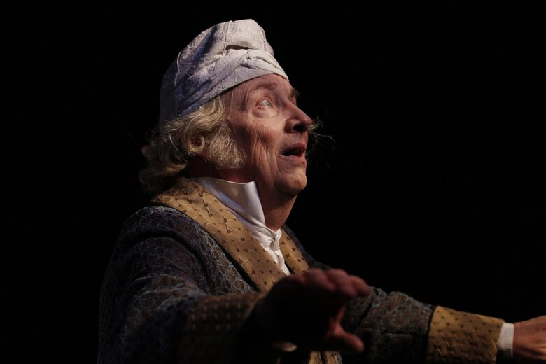 """Jeff Steitzer played Scrooge in ACT's 2011 production of """"A Christmas Carol."""" He reprises the role in this year's radio-play version. (Chris Bennion)"""