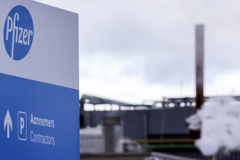 A general view of the Pfizer Manufacturing plant in Puurs, Belgium, on Friday, Dec. 4, 2020. British officials on Wednesday authorized a COVID-19 vaccine for emergency use, greenlighting the world's first shot against the virus that's backed by rigorous science and taking a major step toward eventually ending the pandemic. (AP Photo/Olivier Matthys)