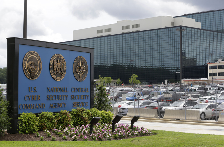 FILE – This June 6, 2013, file photo shows the National Security Administration (NSA) campus in Fort Meade, Md. American officials conducted a cyber operation with Estonia this fall at that country's invitation. That's according to officials from both countries. The joint operation is part of an election-season effort to preemptively identify cyber threats from Russia and other adversaries that could be used against U.S. networks (AP Photo/Patrick Semansky)