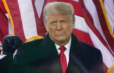 President Donald Trump arrives to speak at a rally Wednesday, Jan. 6, 2021, in Washington. (AP Photo/Jacquelyn Martin) PNA707 PNA707