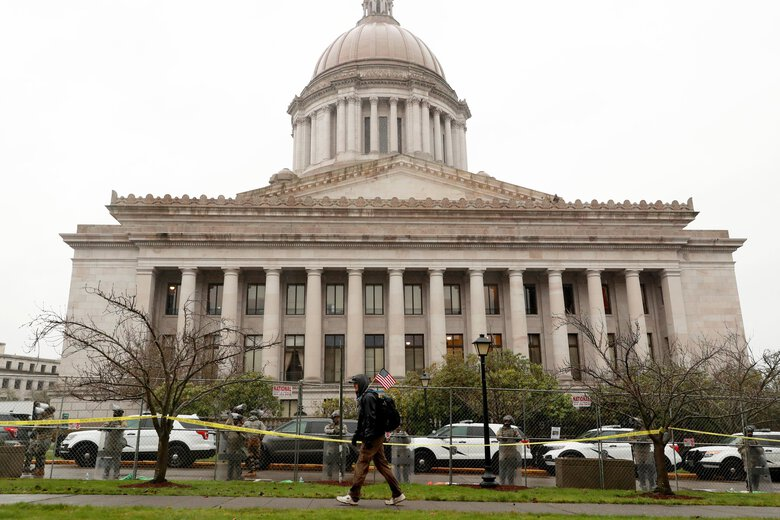 The Capitol in Olympia is seen Monday, the start of the legislative session. Lawmakers have introduced legislation that would give businesses tax exemptions for COVID-related financial support.   (Erika Schultz / The Seattle Times)