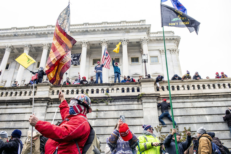 Protesters at the Senate side of the U.S. Capitol in Washington on Wednesday, Jan. 6, 2021. As America's European allies digested events that rocked Washington, many expressed faith in the strength of U.S. democracy to prevail. (Jason Andrew/The New York Times)