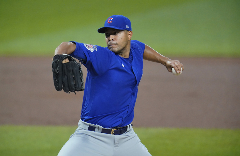 FILE – In this Sept. 22, 2020, file photo, Chicago Cubs starting pitcher Jose Quintana delivers during the first inning of the team's baseball game against the Pittsburgh Pirates in Pittsburgh. Quintana has agreed to a $8 million, one-year contract with the Los Angeles Angels, a person familiar with the negotiations told The Associated Press on Tuesday night, Jan. 19, 2021. The person spoke on condition of anonymity because the agreement is subject to a successful physical. (AP Photo/Gene J. Puskar, File)
