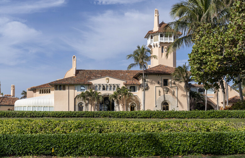 Mar-a-Lago in Palm Beach, Fla.. President Donald Trump is expected to return to his residence on Wednesday. (Greg Lovett/The Palm Beach Post via AP)