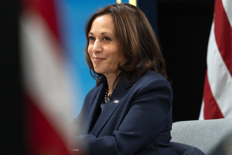 """Vice President Kamala Harris on Wednesday, Feb. 10, 2021, at the White House complex. Pastors in the nation's biggest Protestant denomination have called Harris a biblical insult that has religious experts worried. """"It's not just un-PC. It's far beyond that,"""" says one. """"It's an incitement to violence.""""(Jacquelyn Martin / The Associated Press)"""