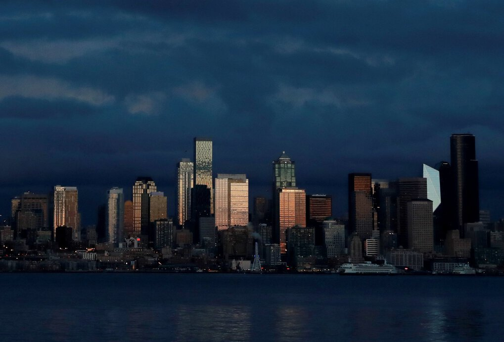 Will the shiny, tall towers built for Seattle's growing workforce ever be filled? A new report says demand has plummeted here more than any other major market since the pandemic arose. (Erika Schultz / The Seattle Times, File)