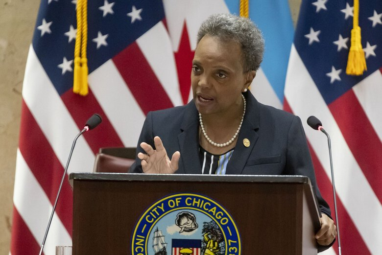 Chicago Mayor Lori Lightfoot said last Wednesday she won't call for any more significant reopening plans until COVID-19 case numbers subside. (Brian Cassella / Chicago Tribune / TNS)