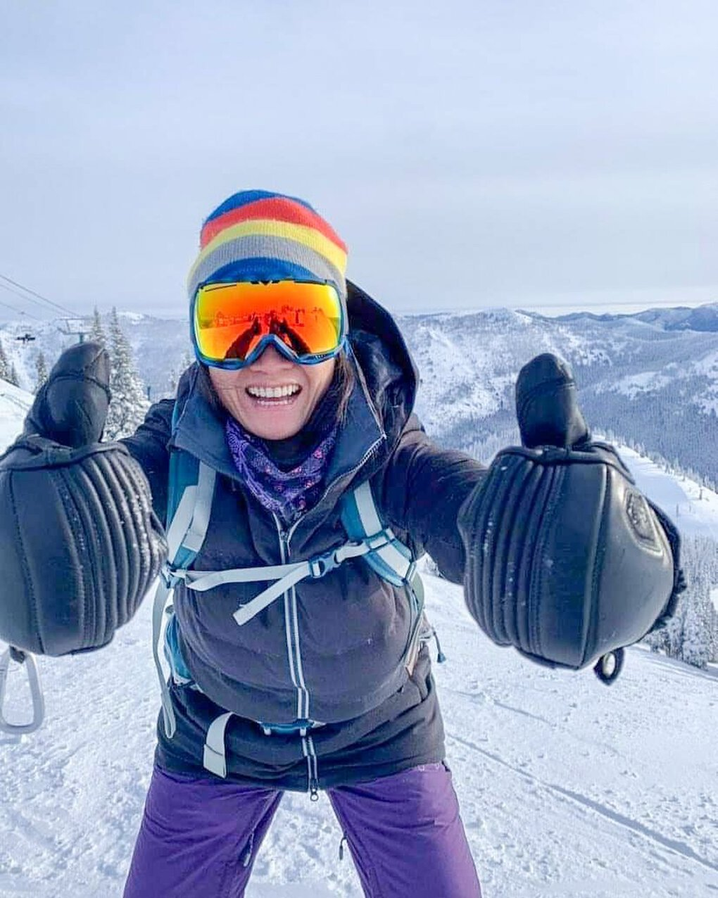 Candice Nuez of Federal Way gives Crystal Mountain kudos for its operational efficiency despite pandemic restrictions that made for a tricky 2020-21 ski season. (Courtesy of Candice Nuez)