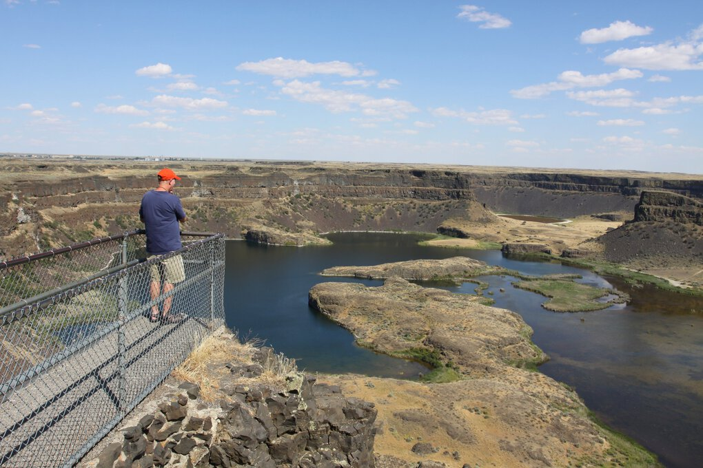 Dry Falls are a striking visual testament to Ice Age floods in Central Washington, and qualify as one of the most-overlooked natural marvels in the Pacific Northwest. (Ron Judd / The Seattle Times)