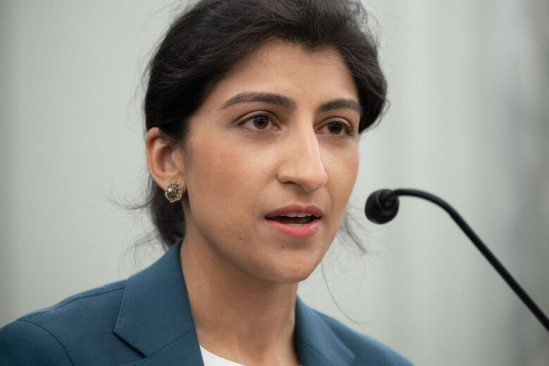 Federal Trade Commission Chair Lina Khan says she has none of the financial conflicts that are the basis for recusal under federal ethics laws. (Getty Images North America, file)