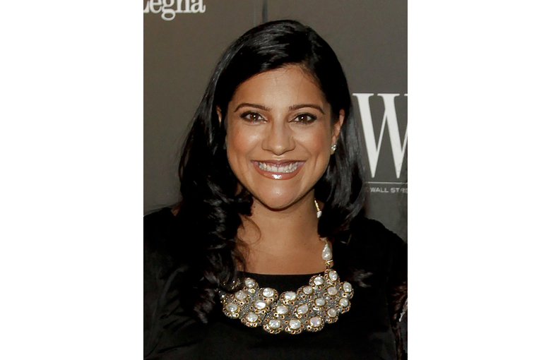 """FILE – Reshma Saujani,  founder of the non-profit organization Girls Who Code, appears at the WSJ. Magazine 2014 Innovator Awards in New York on Nov. 5, 2014. Saujani's """"Pay Up"""" will be published in March 2022 by One Signal Publisher/Atria Books.  (Photo by Andy Kropa/Invision/AP, File)"""
