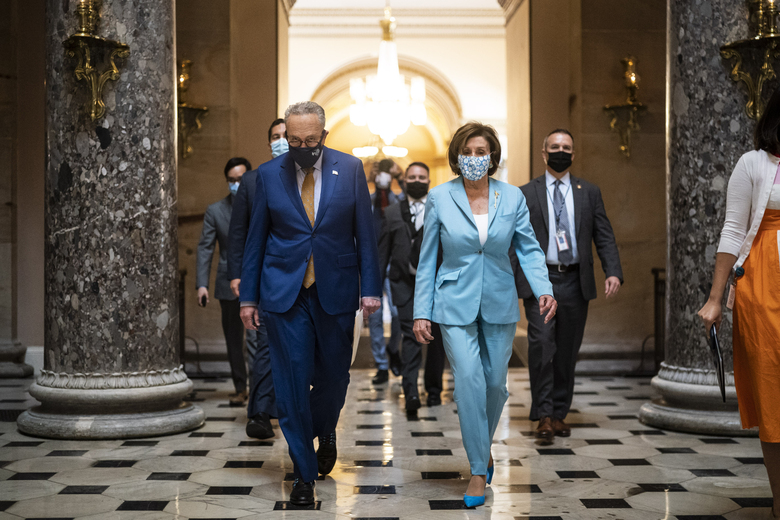A flurry of activity sets up Senate Majority Leader Chuck. Schumer and House Speaker Nancy Pelosi for a last-minute sprint. (Washington Post photo by Jabin Botsford).